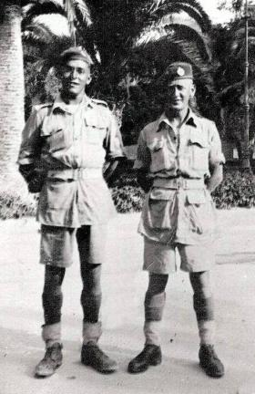 'Bobby' Evans and mate, Taranto, Italy, 11 September 1943.