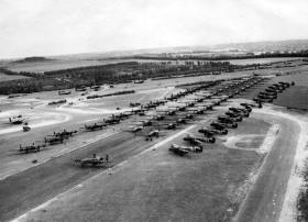 RAF Tarrant Rushton before take off, Operation Mallard, 6 June 1944.