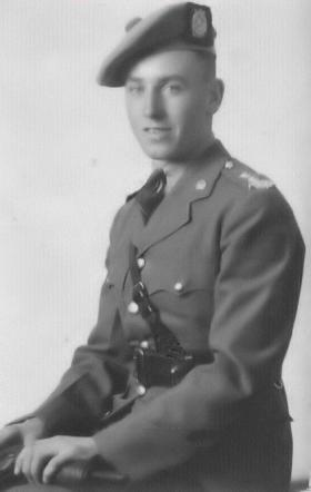 Portrait of Jim Taylor as an officer in 7th Bn, KOSBs
