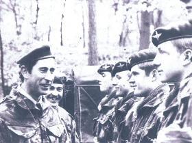 HRH Prince Charles visits 2 PARA, Berlin 1977
