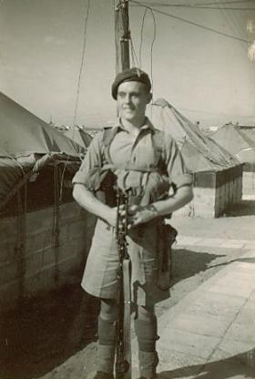 Pte Ray Teft Palestine circa 1946-47