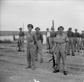 Members of D Squadron, 2 SAS Regiment, on parade, Termoli, 11 October 1943.