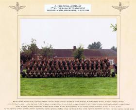 C (Bruneval) Company, 2 PARA, Ternhill Camp, Shropshire, 10 June 1988.