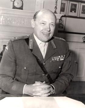 Gen Sir AH Farrar-Hockley GBE KCB DSO MC, June 1977