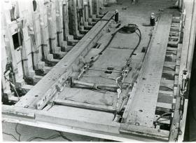 The anchor points for M22 Locust on the floor of the Hamilcar Glider, c.1945