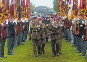 The Colonel in Chief and the Colonel Commandant attending the dedication ceremony at the NMA, 13 July 2012.