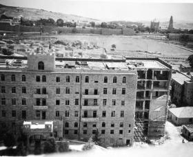 The King David Hotel after the Hagana bomb explosion, 1946.