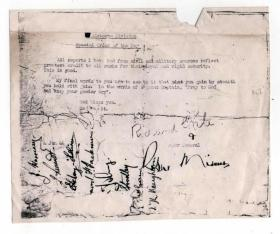 6 Airborne Division Special Order of the Day, signed by members of Lt Bob Midwood's stick, 4 June 1944.