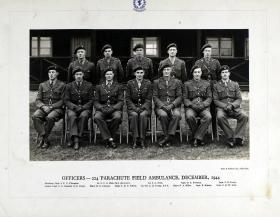 The Officers of 224 Parachute Field Ambulance, December 1944
