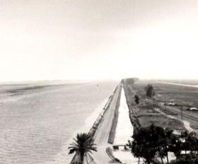 The Suez and Sweetwater Canals looking South