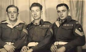 Three Sergeants, two believed to be 6th Para Bn, circa 1945-46