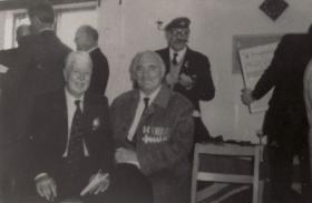 John Timothy (right) with Bob Dobson, 1985.