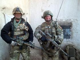 Two Pathfinders in a compound in Afghanistan, 2010.