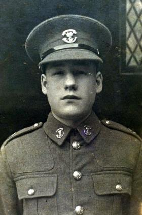 Private Tom Lorne, aged 16, Somerset Light Infantry, 1937.