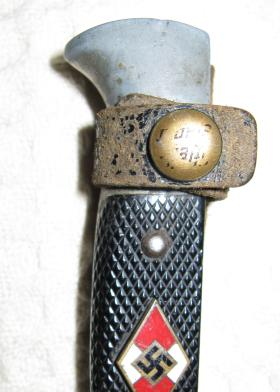 Hilt of Nazi dagger captured in NW Europe by Sgmn Tom Stevens in 1944-45, undated.