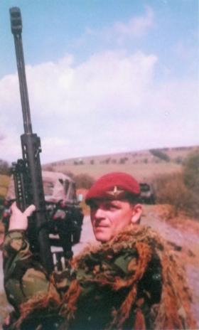 Sgt Paul Tonks, Instructor, Sniper Wing, Infantry Battle School, Brecon, c1998.