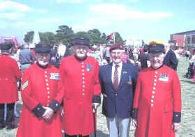 Tony Costello and Airborne Chelsea Pensioners, Colchester, July 2010.