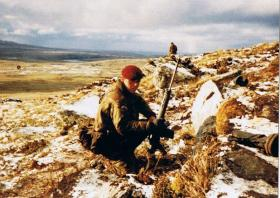 Pte Tony Kempster, 5 Platoon, part of Cpl Stewart McLaughlin's 2 Section 3 PARA, 14 June 1982.