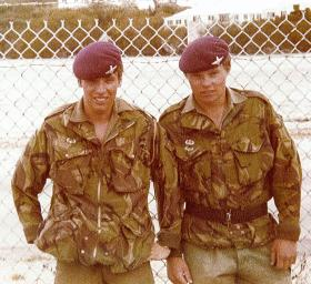 Tony Wright and Greg Allen, 1 PARA on a trip to the USA, 1979.