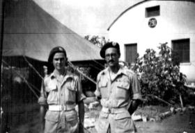 Tony Wann (right) in Palestine