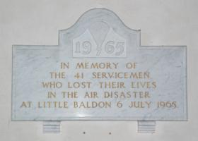 Little Baldon Air Disaster Memorial, St Lawrence Church, Toot Baldon, Oxon, August 2010.