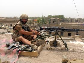 Sgt Tom Blakey at Musa Qala, Herrick IV, Afghanistan, 2006.