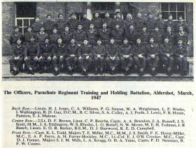 Officers of The Parachute Regiment Training and Holding Battalion, Aldershot, 1947.