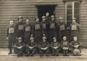 Group photograph of Royal Artillery Personnel including 'Tommy' Tucker