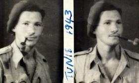 Pte D M Keen, Tunis, 1943.