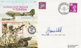 Tunisia Commemorative Cover signed by Brigadier Hill