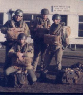 Members of 15 PARA just before emplaning at Turnhose Airport
