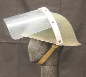 Helmet Steel, Universal Pattern, Mk III, with visor, from the Airborne Assault Museum Collection, Duxford.