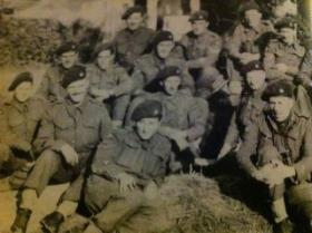 Members of 2 Bn Ox and Bucks at D Coy HQ Normandy 1944