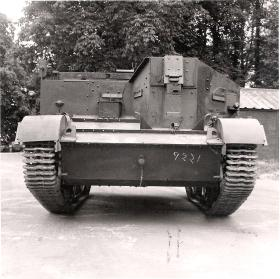 Front view of the Airborne Universal Carrier, AFDC, June 1944.