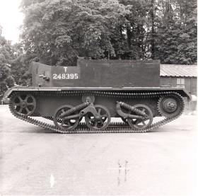 Near side view of the Airborne Universal Carrier, AFDC, June 1944.