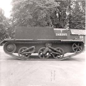 Off side view of the Airborne Universal Carrier, AFDC, June 1944.
