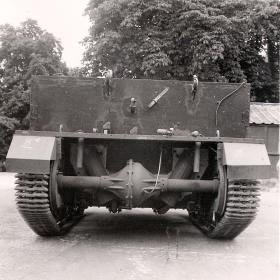 Rear view of the Airborne Universal Carrier, AFDC, June 1944.