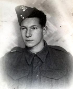 Pte 'Denny' Keen, Prior to joining airborne forces, date unknown.