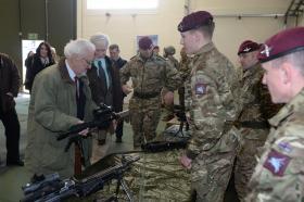 Bernard Cribbins visits Merville Barracks, 15 January 2016.