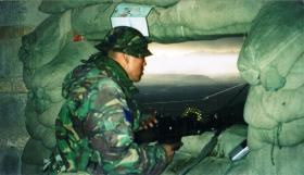 Mark Magreehan at an Observation Post on TV Hill, Kabul, Afghanistan, 2002