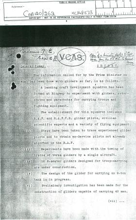 Copy of a minute dated September 5th, 1940 from the VCAS to General Ismay