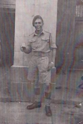 L/Cpl Deryk Venables in Italy, 1943.
