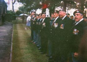 Veterans of 12th (Yorks) Parachute Battalion gather for a reunion in Scarborough, mid 1990s.
