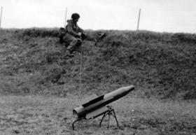 Vickers Vigilant Anti Tank Missile, AATDC trials,  July 1959.