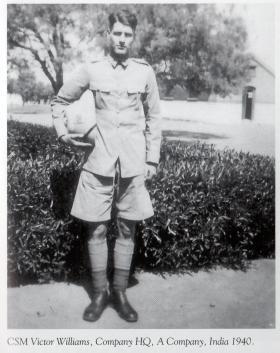 CSM V Williams, The South Staffordshire Regiment, India, 1940.