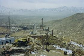 View from TV Hill Observation Post, Kabul, Afghanistan, 2002.