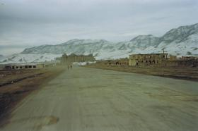 View back from the Royal Palace, Kabul, Afghanistan, 2002.