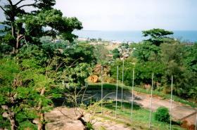 Aberdeen Peninsular looking towards UN heli-pad, Sierra Leone, May 2000.