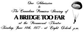 Ticket given to Vigilant Platoon in Edmonton, Canada 1977