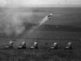 Live firing of a Vigilant, Salisbury Plain c1975